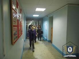 Практические занятия по безопасности эвакуации студентов и преподавателей при «возникновении» пожара